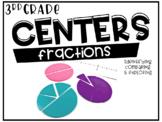 Third Grade Math Centers Fractions