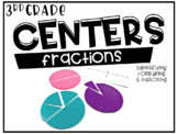 Third Grade Math Centers Fractions