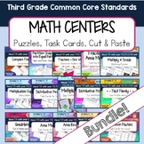 Third Grade Math Centers - Fractions, Multiplication, and