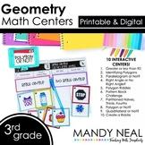 Third Grade Digital Math Centers Geometry | Distance Learning
