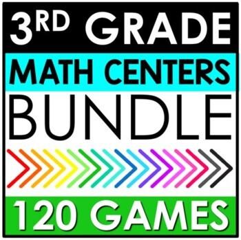 3rd Grade Math Centers Yearlong BUNDLE!