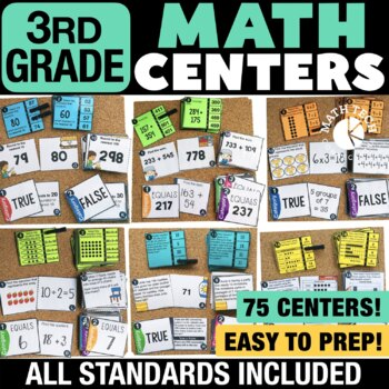 3rd Grade Math Centers Bundle - 3rd Grade Math Games for Guided Math