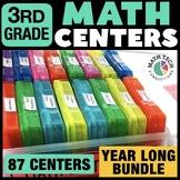 3rd Grade Math Centers Bundle - 3rd Grade Math Task Cards   Guided Math Games