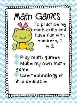Third Grade Math Centers: Math Games
