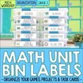 Second Grade Math Centers & Math Unit Organization Labels