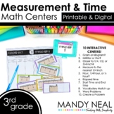 Third Grade Digital Math Centers Measurement and Time | Di