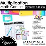 Third Grade Digital Math Centers Multiplication | Distance
