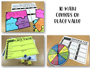 Third Grade Math Centers Place Value