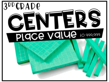 Third Grade Math Centers Place Value