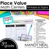Third Grade Digital Math Centers Place Value | Distance Learning
