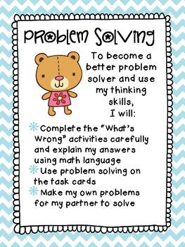 Third Grade Math Centers: Problem Solving