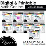 Third Grade Digital Math Centers Bundle | Distance Learning