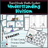 Third Grade Math Centers: Understanding Division