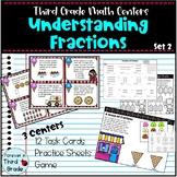 Third Grade Math Centers: Understanding Fractions