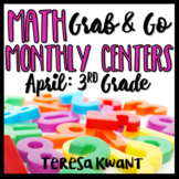 Third Grade Math Centers for April Test Prep