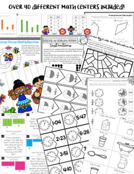 Third Grade Math Centers for April Test Prep
