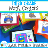 Third Grade Math Centers for Distance Learning - Digital a
