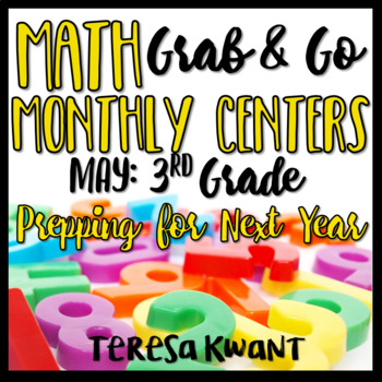 Third Grade Math Centers for May Prepping for the Next Grade