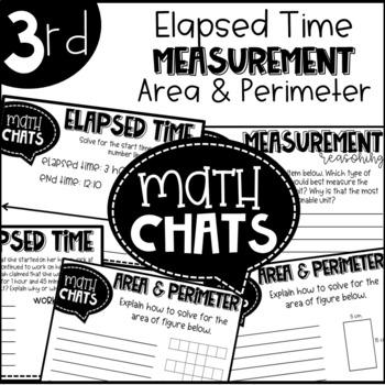 Third Grade Math Chats Elapsed Time Measurement Area and Perimeter