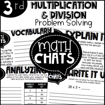 Third Grade Math Chats Multiplication and Division Problem Solving