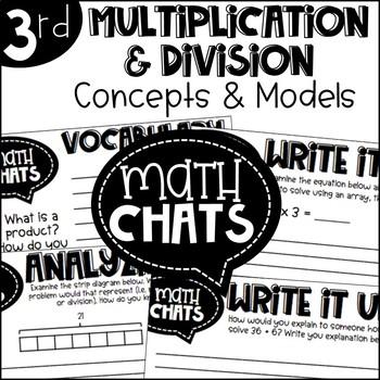 Third Grade Math Chats Multiplication and Division Concepts and Models