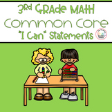 Third Grade Math Common Core 1st, 2nd, and 3rd Trimester - Kid Friendly
