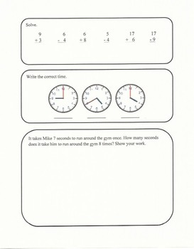 Third Grade Math Common Core Aligned Daily Practice