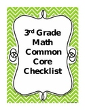 Third Grade Math Common Core Checklist