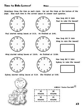 Fall Third Grade Math Review | Third Grade Math Worksheets Common Core