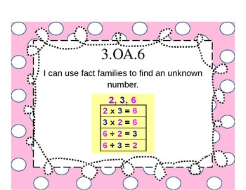 Third Grade Math Common Core Posters