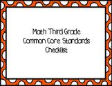 Third Grade Math Common Core Standards Checklist