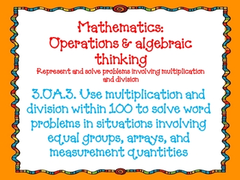 Third Grade Math Common Core Standards Doodle Font