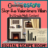 Third Grade Math Content Valentine's Day Digital Escape Room