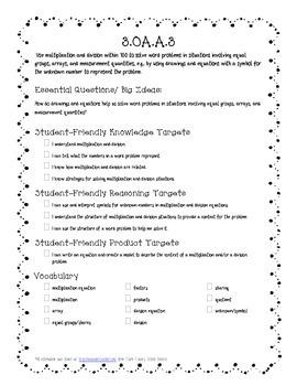 Third Grade Math Deconstructed Standards