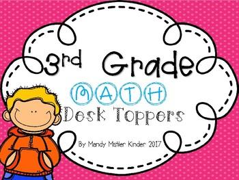 Third Grade Math Desk Topper