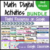 Third Grade Math Digital Activities Bundle