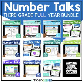 Third Grade Math Number Talks BUNDLE