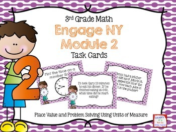 Third Grade Math Engage NY Module 2 Task Cards