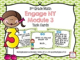 Third Grade Math Engage NY Module 3 Task Cards