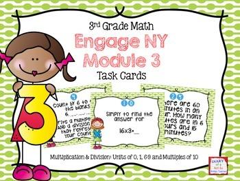 Third Grade Math Engage NY Module 3 Task Cards