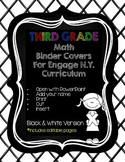 Editable Third Grade Math Engage New York Binder Covers -
