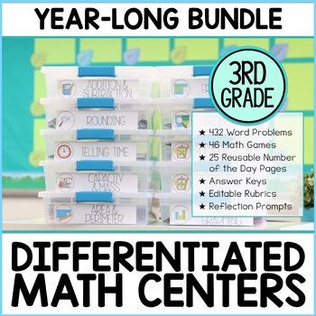 Third Grade Math Enrichment Year Long Bundle | M.A.T.H. Workshop & Guided Math