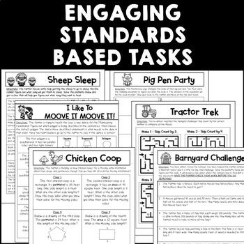 Third Grade Math Escape the Turkey Farm Thanksgiving Fall Escape Room Activity