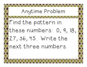 Third Grade Math Expressions Anytime Problems Unit 1
