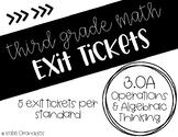 Third Grade Math Exit Tickets: All CCSS 3.OA Standards