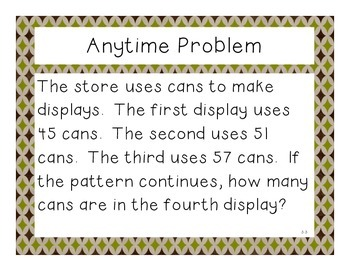Third Grade Math Expressions Anytime Problems Unit 3