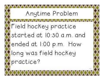 Third Grade Math Expressions Anytime Problems Unit 4