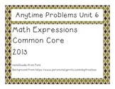 Third Grade Math Expressions Anytime Problems Unit 6