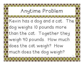 Third Grade Math Expressions Anytime Problems Unit 7