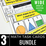 3rd Grade Math Task Cards BUNDLE | Varied Question Types